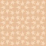 从秋天槭树叶子的无缝的模式 免版税图库摄影