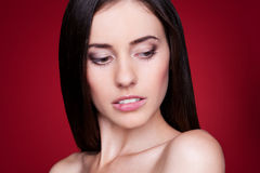 性感的美丽的女性 库存图片