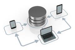 Принципиальная схема компьютерной сети Стоковое Изображение RF