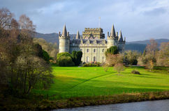 Шотландский замок Стоковая Фотография