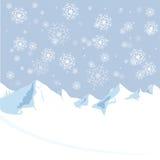 山冬天圣诞节和新年度 免版税库存照片