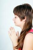 Έφηβος προσευχής Στοκ εικόνα με δικαίωμα ελεύθερης χρήσης