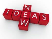 新的想法 免版税库存图片