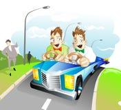 близнецы экстренныйого выпуска автомобиля Стоковое Изображение