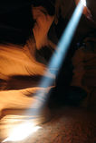 在羚羊峡谷的光束 库存照片