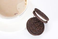 巧克力饼干 免版税库存照片