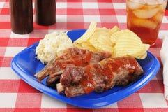 猪排和凉拌卷心菜 库存照片