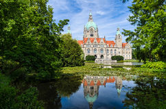 汉诺威,德国市政厅 免版税图库摄影