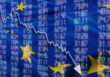 危机在欧洲 库存图片