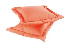 把红色枕在 图库摄影