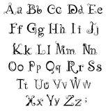 哥特式字母表 免版税图库摄影
