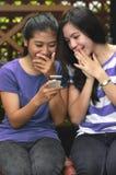 女孩活动和友谊 免版税库存图片