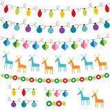 圣诞节装饰集 免版税库存图片