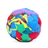 塑造黏土球 免版税库存照片