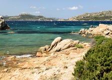 概览在撒丁岛 免版税库存照片