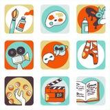 εικονίδια τεχνών Στοκ φωτογραφίες με δικαίωμα ελεύθερης χρήσης