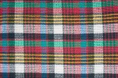被编织的颜色摆正了布料纹理 库存照片