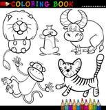 Ζώα για το χρωματισμό του βιβλίου ή της σελίδας Στοκ Φωτογραφίες