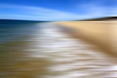 沙子、海运和天空 免版税库存图片