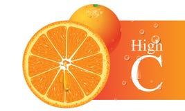 橙色向量 免版税库存照片