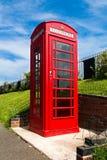 红色英国电话配件箱 免版税库存照片