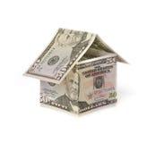 деньги дома Стоковое Фото