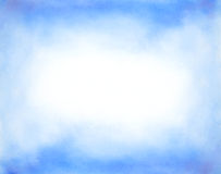 抽象手拉的水彩背景 免版税库存照片