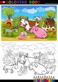 着色的农厂和家畜动物 库存照片