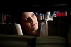 Женщина в архиве Стоковое Изображение RF