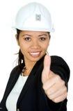 建筑师亚洲人女性 库存照片