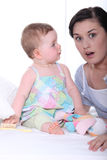 Младенец и мать Стоковая Фотография RF