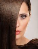 有长的头发的妇女 免版税库存照片
