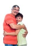 在爱的愉快的中间变老的夫妇 免版税库存照片