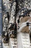 在古老寺庙的泰国古老艺术。 免版税图库摄影