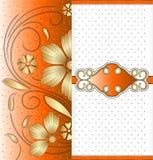 向量橙色横幅设计 免版税库存照片