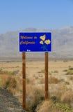 Добро пожаловать к Калифорния! Стоковое Изображение