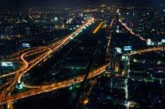 曼谷在晚上 免版税库存照片