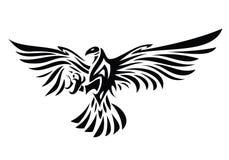 部族老鹰纹身花刺 库存图片