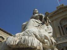女王维多利亚雕象 免版税库存图片