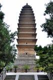 在中国古庙的佛教塔 库存照片