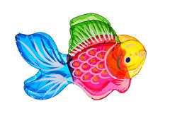 五颜六色的鱼灯笼 库存图片
