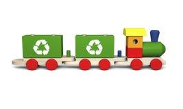 Деревянный поезд игрушки Стоковая Фотография