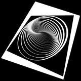 抽象欧普艺术设计。 免版税库存图片