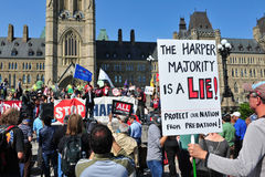 在渥太华占用拒付周年纪念 免版税库存图片