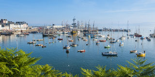 海节日在布里坦尼 免版税库存图片