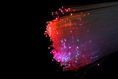 光纤红色 库存图片