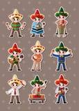 墨西哥人贴纸 免版税库存照片