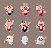 Стикеры привидения и дьявола Стоковые Фотографии RF