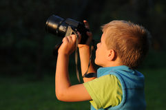 儿童摄影师 免版税库存照片