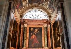 法语的圣路易斯教会在罗马 免版税库存照片